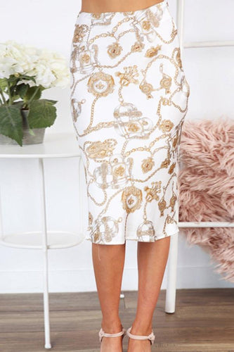 Basic  Printed  Elegant  Skirts