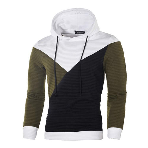 Fashion New Style Patchwork Casual Hoodie
