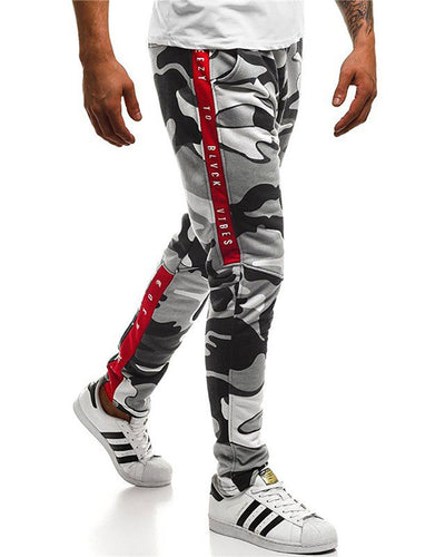 Camouflage Printed Mid-Rise Straight Trousers