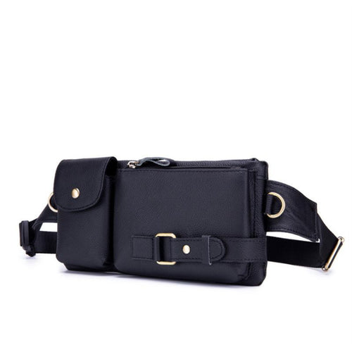 Single-shoulder fashion multi-functional leather crossbody bag