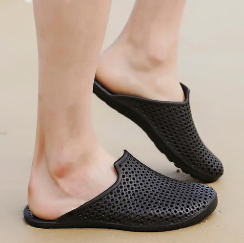 Beach hole shoes men's breathable slippers