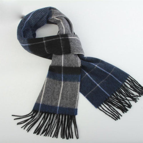 Plaid Scarf Fashion Business Bib