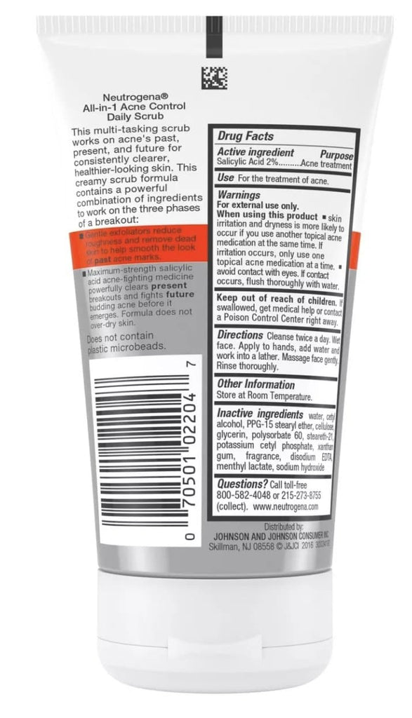 Exfoliante de uso diario All in 1 Acne Control Neutrogena - Eva Store
