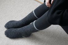 Load image into Gallery viewer, Nishiguchi Kutsushita, Merino, Cotton, Made in Japan, Ethically Produced, Socks, Cozy, Charcoal, Grey