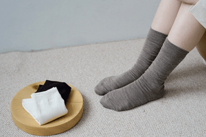 Nishiguchi Kutsushita, Silk, Wool, Made in Japan, Ethically Produced, Socks, Double Weave