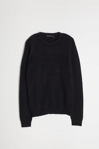 New Wool Crew Neck - Black