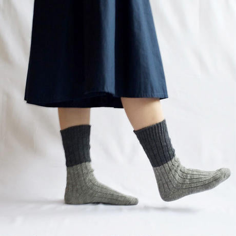 Boston Wool Cotton Slab Socks