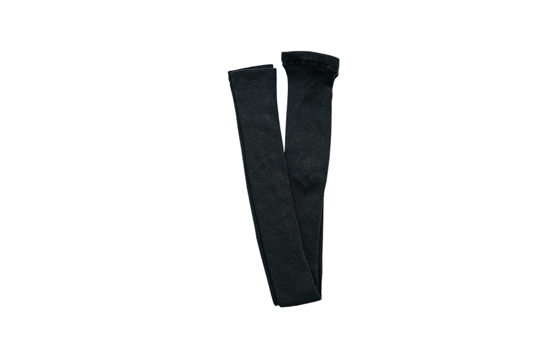 Nishiguchi Kutsushita, Silk, Made in Japan, Ethically Produced, Leggings, Ribbed, Charcoal, Grey