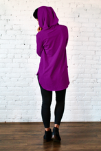 Load image into Gallery viewer, Gilmour, Ethically Made, Sustainable Loungewear, Made in Canada, Bamboo French Terry, Hoodie, Boysenberry, Purple