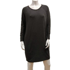 Gilmour, Ethically Made, Sustainable Loungewear, Made in Canada, Bamboo, French Terry, Raglan, Dress, Long Sleeve, Charcoal, Grey