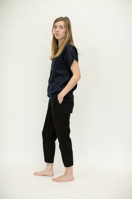 Selen Trouser With Pockets - Midweight Linen
