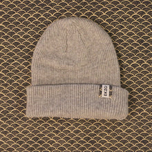 Load image into Gallery viewer, Ekzo, Ethically Made, Made in Japan, Sustainable, Merino Wool, Beanie, Grey