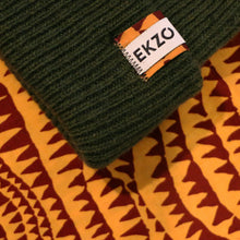 Load image into Gallery viewer, Ekzo, Ethically Made, Made in Japan, Sustainable, Merino Wool, Beanie, Green