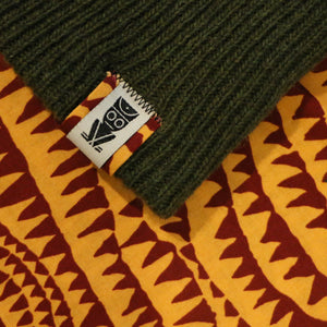 Ekzo, Ethically Made, Made in Japan, Sustainable, Merino Wool, Beanie, Green