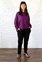 Load image into Gallery viewer, Gilmour, Ethically Made, Sustainable Loungewear, Bamboo, Made in Canada, French Terry, Sweatshirt, Plum, Purple