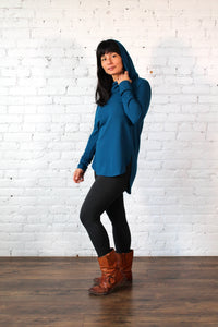 Gilmour, Ethically Made, Sustainable Loungewear, Made in Canada, Bamboo, French Terry, Hoodie, Blue