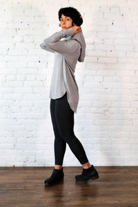 Gilmour, Ethically Made, Sustainable Loungewear, Bamboo,Made in Canada,  French Terry, Hoodie, Medium Grey