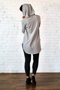 Gilmour, Ethically Made, Sustainable Loungewear, Bamboo, Made in Canada, French Terry, Hoodie, Medium Grey