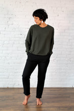 Load image into Gallery viewer, Gilmour, Ethically Made, Sustainable Loungewear, Bamboo, Made in Canada, French Terry, Pants, Trousers, Black