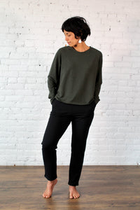 Gilmour, Ethically Made, Sustainable Loungewear, Bamboo, Made in Canada, French Terry, Pants, Trousers, Black
