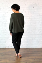 Load image into Gallery viewer, Gilmour, Loungewear, Ethically Made, Sustainable, Made in Canada, Bamboo, Crop Sweatshirt, Charcoal Grey