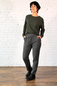 Gilmour, Ethically Made, Sustainable Loungewear, Bamboo, French Terry, Made in Canada, Pants, Trousers, Charcoal Grey