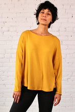Load image into Gallery viewer, Gilmour, Ethically Made, Made in Canada, Sustainable, Loungewear, Modal, Sweater Knit, Crop Top, Long Sleeve, Gold, Yellow