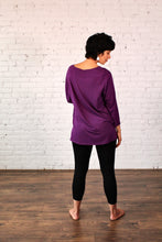 Load image into Gallery viewer, Gilmour, Ethically Made, Sustainable Loungewear, Made in Canada, Bamboo, Tunic, Boysenberry, Purple