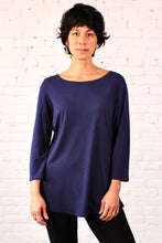 Load image into Gallery viewer, Gilmour, Ethically Made, Sustainable Loungewear, Made in Canada, Bamboo, Tunic, Flight, Blue