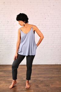 Gilmour, Ethically Made, Sustainable Loungewear, Made in Canada, Bamboo, Tank, Pale Blue