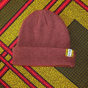 Ekzo, Ethically Made, Made in Japan, Sustainable, Merino Wool, Beanie, Maroon