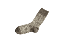 Load image into Gallery viewer, Nishiguchi Kutsushita, Wool, Made in Japan, Ethically Produced, Socks, Jaquard, Patterned, Grey