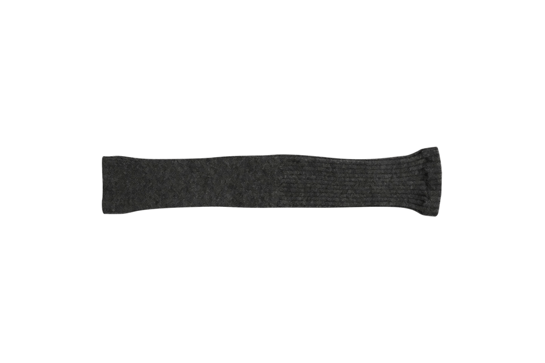 Nishiguchi Kutsushita, Alpaca, Made in Japan, Ethically Produced, Arm Warmer, Leg Warmer, Cozy, Charcoal, Grey