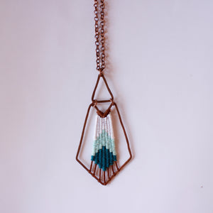 Handmade, Jewelry, Pendant, Necklace, Cotton, Copper, Mint