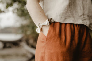 Jimi Collection, Linen, Made in Canada, Ethically Produced, Sustainable Fashion, Wide Leg, Pants, Wide Waistband
