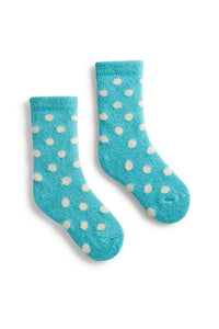 Wool Cashmere Crew Toddler Socks - Classic Dot