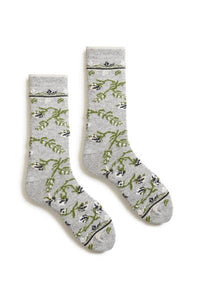 Wool Cashmere Floral Crew Women's Socks