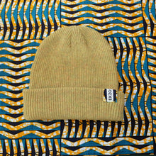 Load image into Gallery viewer, Ekzo, Ethically Made, Made in Japan, Sustainable, Merino Wool, Beanie, Yellow