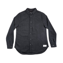 Load image into Gallery viewer, Anian, Made in Canada, Ethically Made, Recycled Wool, Melton, Long Sleeve, Charcoal, Grey