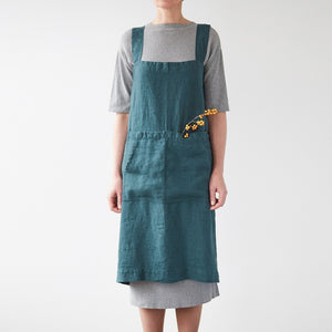 Washed Linen Pinafore Apron