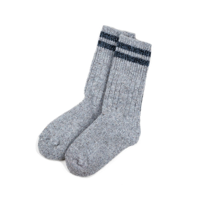 Anian, Made in Canada, Ethically Made, Wool, Socks, Grey