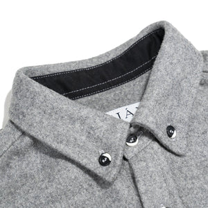 Anian, Made in Canada, Ethically Made, Recycled Wool, Melton, Menswear, Long Sleeve, Light Grey