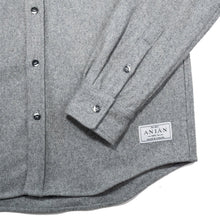 Load image into Gallery viewer, Anian, Made in Canada, Ethically Made, Recycled Wool, Melton, Menswear, Long Sleeve, Light Grey