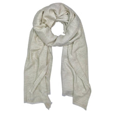 Load image into Gallery viewer, Pearl Herringbone Cashmere Scarf