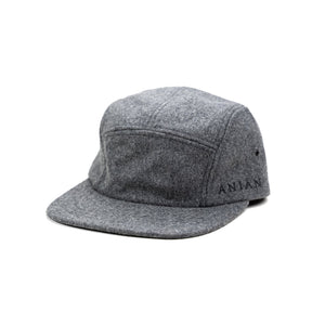 Anian, Made in Canada, Ethically Made, Recycled Wool, Hat, Melton, Smoke Grey