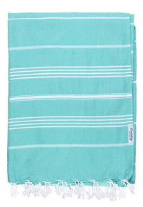 Everyday Family Blanket Turkish Towel by Sunday Dry Goods - Teal