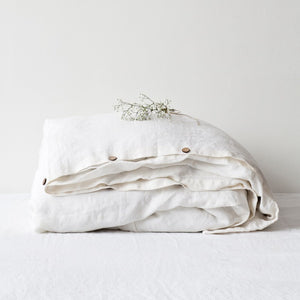 Washed Linen Duvet Cover - King