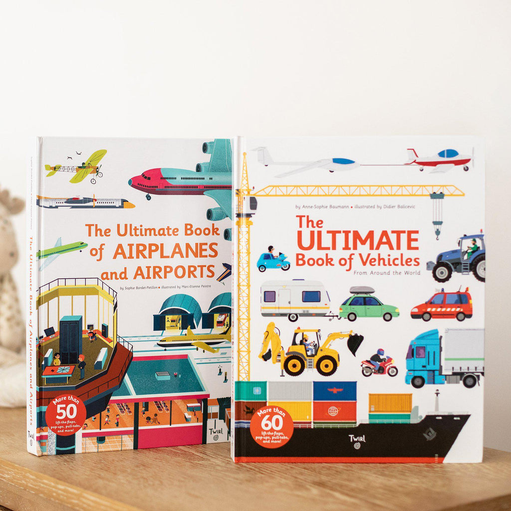 The Ultimate Book of Vehicles & The Ultimate Book of Airplanes and Airports-Hullabaloo Book Co.