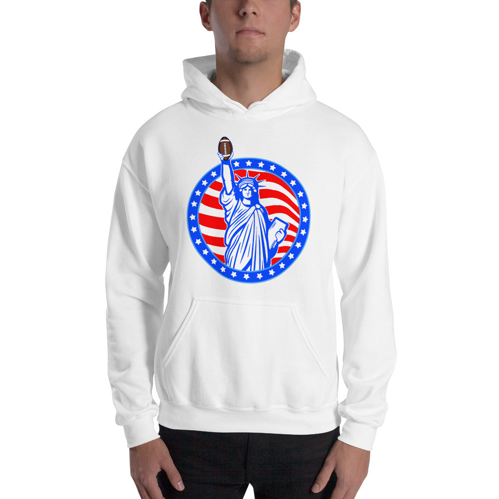 Statue of Liberty Quarterback Hooded Sweatshirt