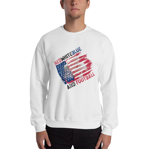 Red White Blue And Football Sweatshirt